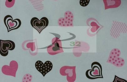 ผ้ายืดลายพิมพ์สีขาวลายหัวใจ 5