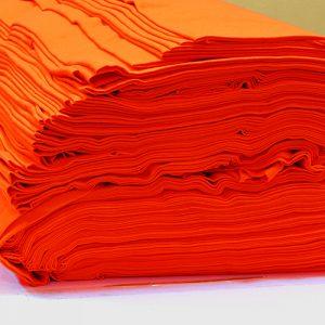 ผ้ายืดสีส้มสด KC 010