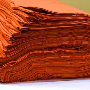 ผ้ายืดสีส้มอิฐ KC 011
