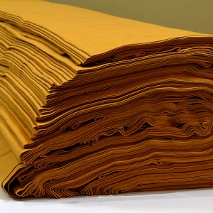 ผ้ายืดสีเหลืองไพรเข้ม KC 012