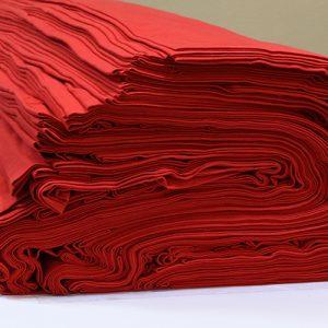 ผ้ายืดสีแดงเลือดนก KC 015